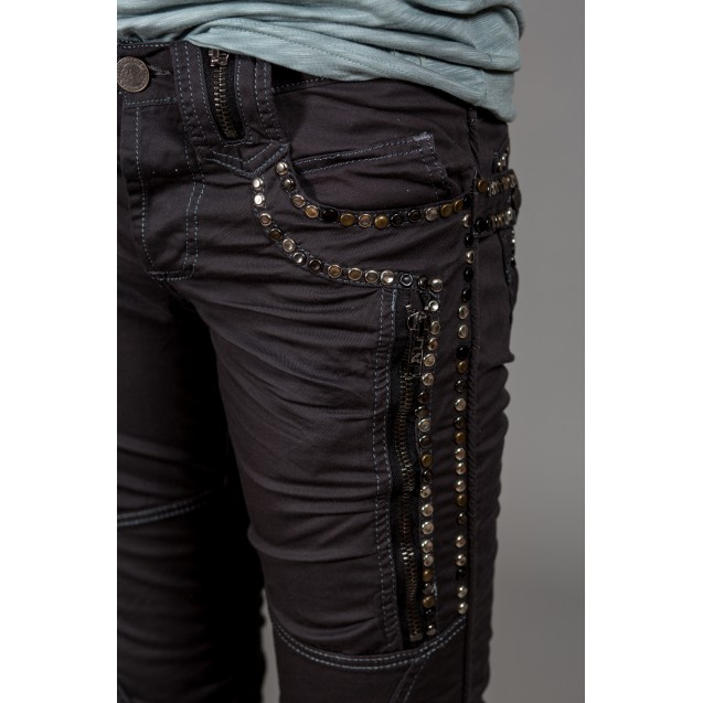 Blugi gri elastici Kingz Jeans 1036-01