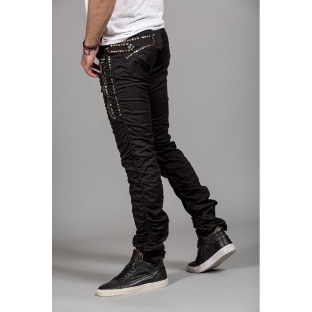 Blugi negri elastici Kingz Jeans 1036-02