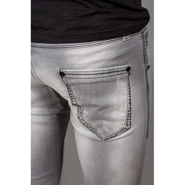 Blugi gri Kingz Jeans 1126