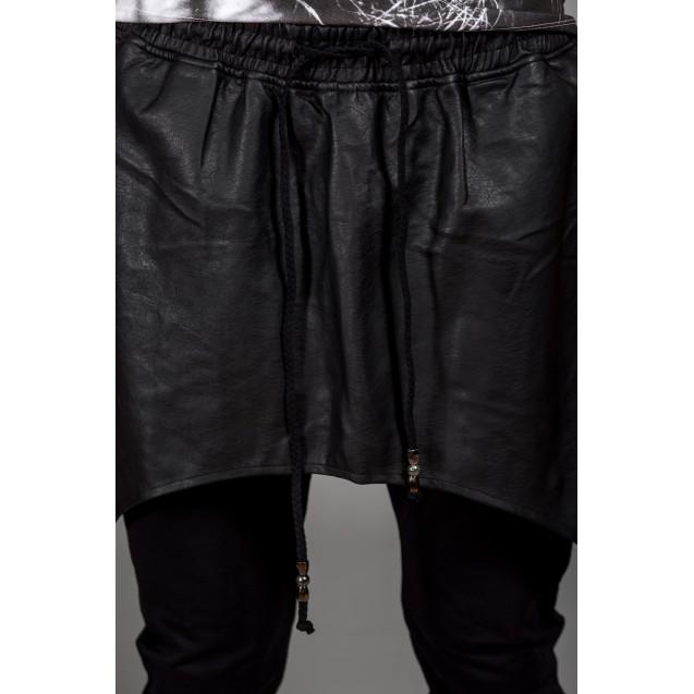 Pantaloni negri cu turul lasat Kingz jeans 1395-1