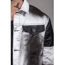 Geaca alba Kingz Jeans 1401-2