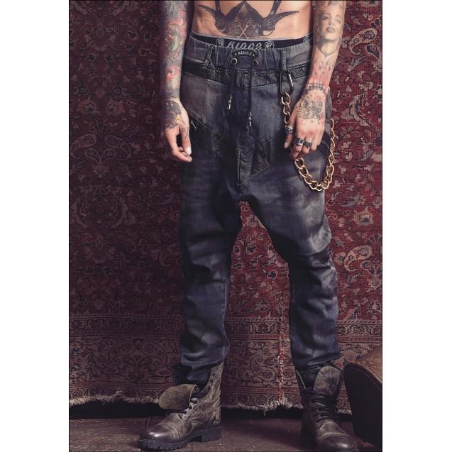 Blugi cu turul lasat Kingz Jeans 1464
