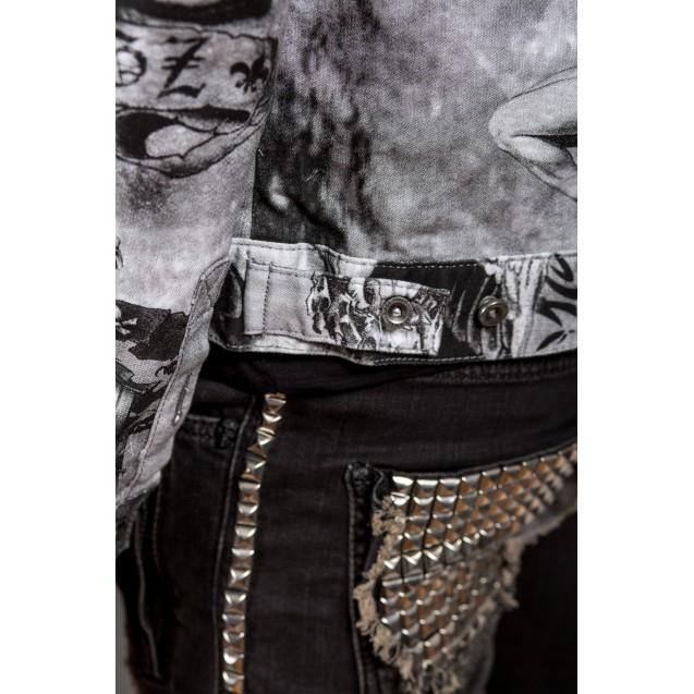 Geaca alba Kingz Jeans 1490-2
