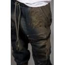 Blugi cu turul lasat kaki Kingz Jeans 1503