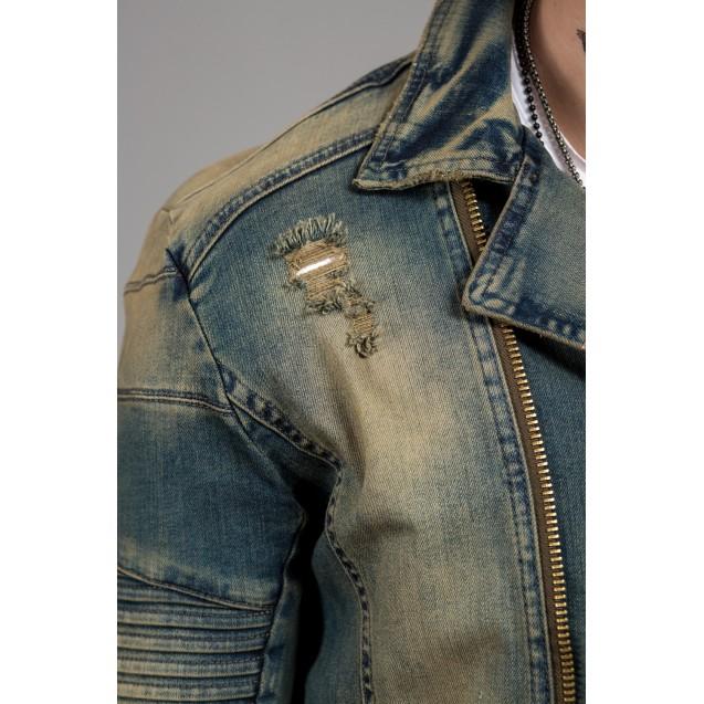 Geaca de blugi military Kingz Jeans 1525