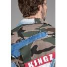 Geaca cu imprimeu army Kingz Jeans 1546