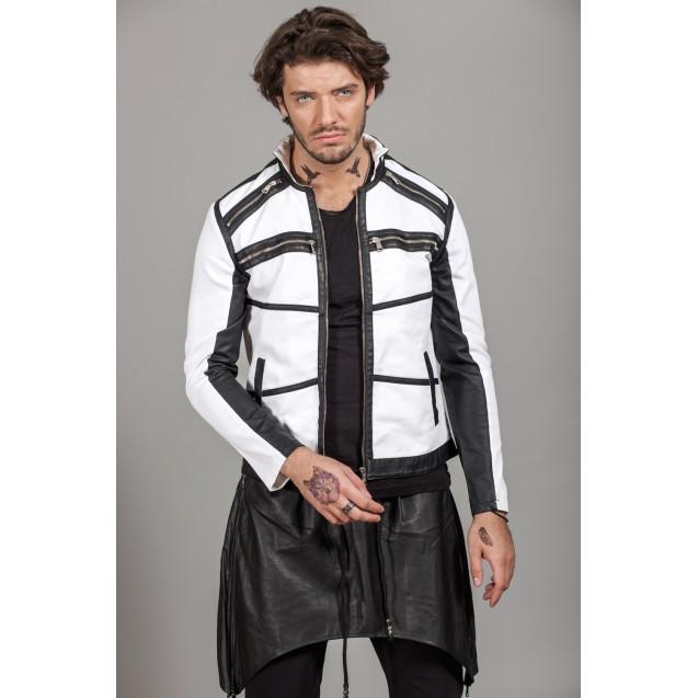 Geaca alba Kingz Jeans 1583-2