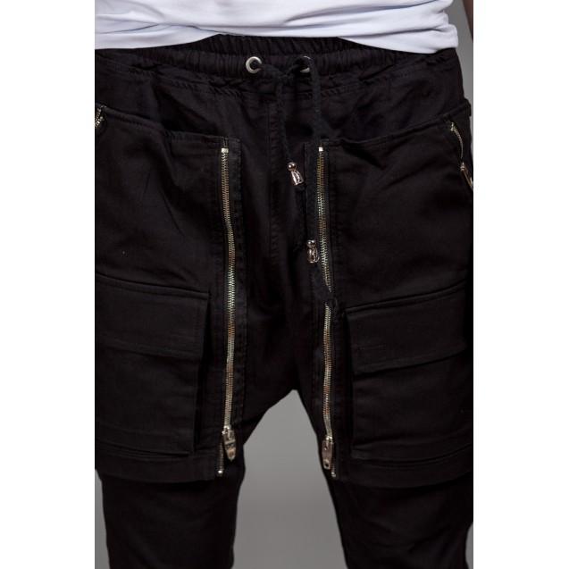 Blugi negri Kingz Jeans 1588-1
