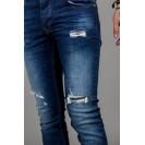 Blugi albastru inchis Kingz Jeans 1591-01