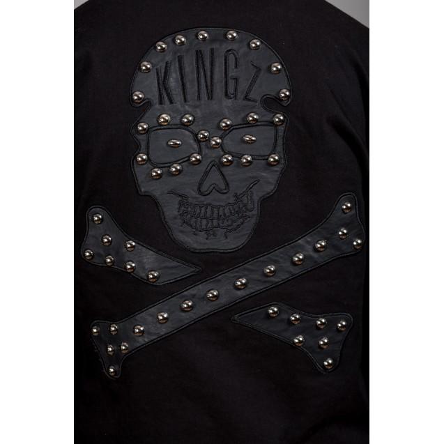 Geaca neagra Kingz Jeans 1593-1