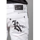Blugi albi Kingz Jeans 1596-2
