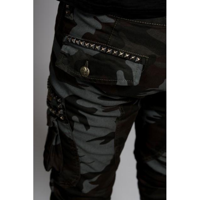 Blugi army cu capse Kingz Jeans 1623