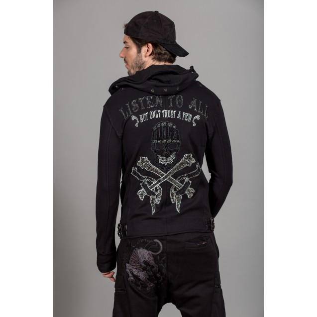 Hanorac negru Kingz Jeans 23-064