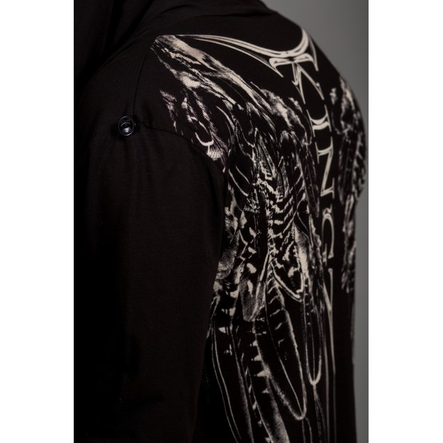 Hanorac negru lung 23-086