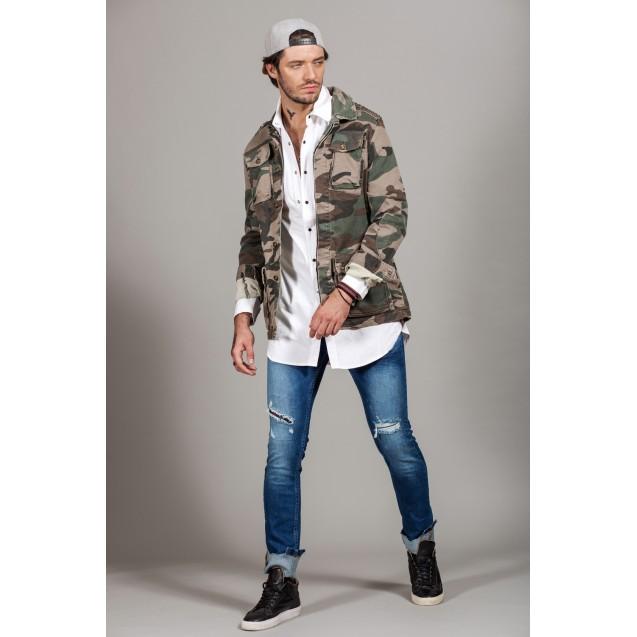 Camasa alba lunga Kingz Jeans 23-41