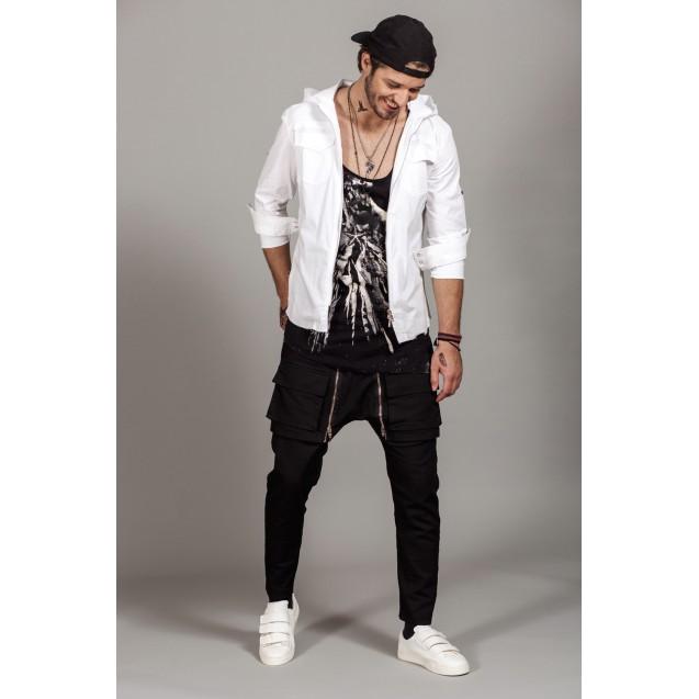 Jacheta alba Kingz Jeans 23-56