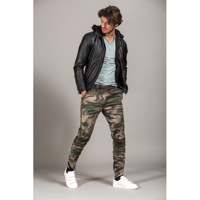Jacheta neagra Kingz Jeans 23-56