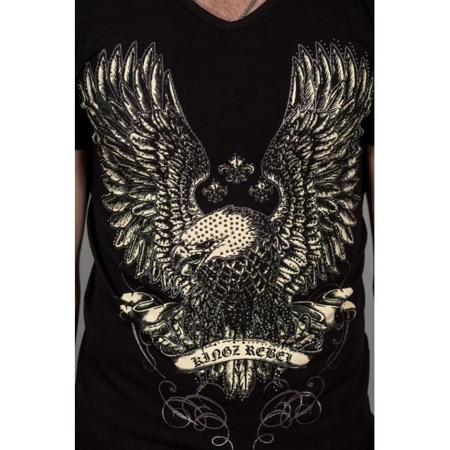 Tricou negru Kingz Jeans 26-19