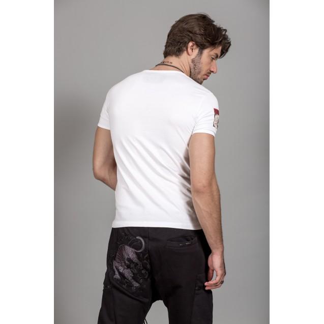 Tricou alb Kingz Jeans 30-01