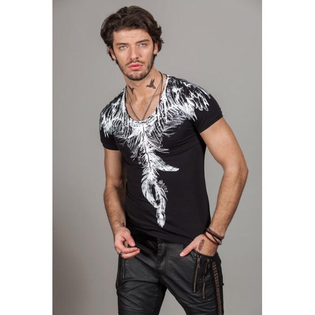 Tricou negru Kingz Jeans 30-02