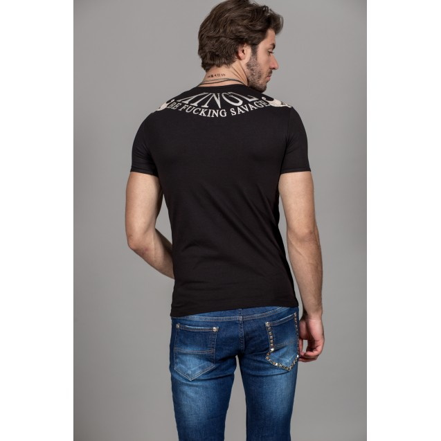 Tricou negru Kingz Jeans 32-03
