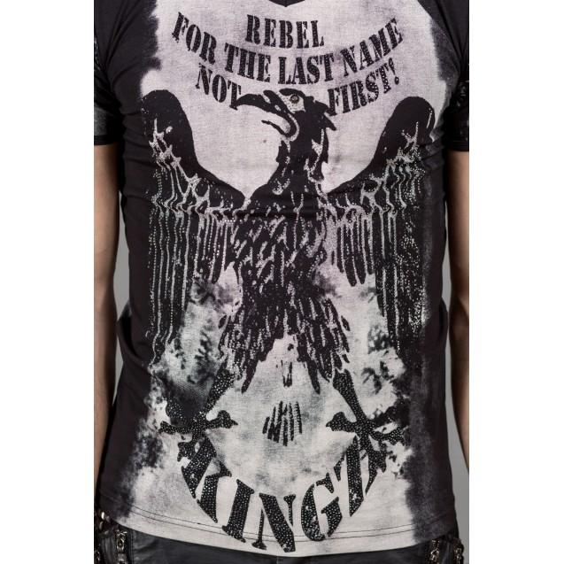 Tricou negru Kingz Jeans 32-10