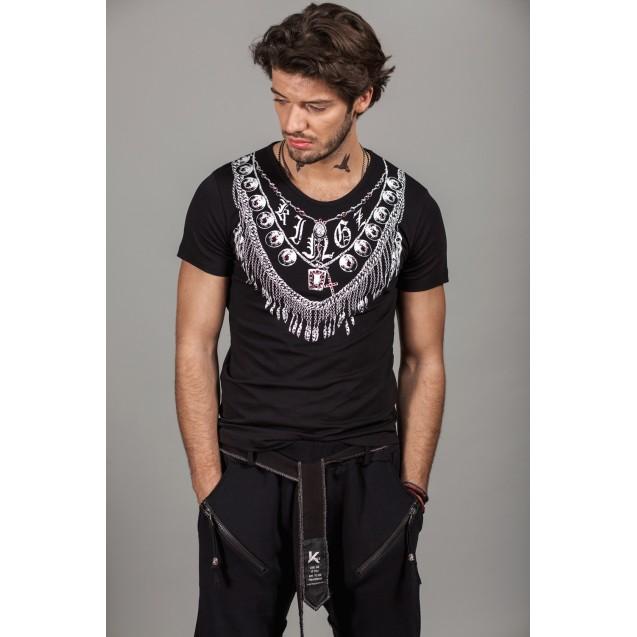 Tricou negru Kingz Jeans 33-02