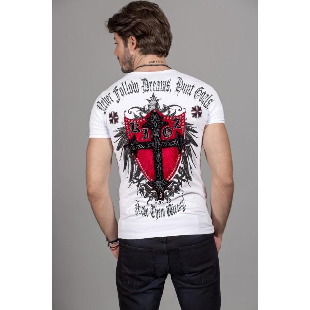 Tricou alb Kingz Jeans 36-01