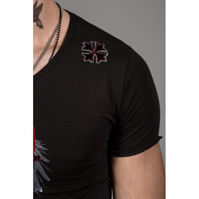Tricou negru Kingz Jeans 36-01