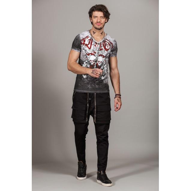 Tricou negru Kingz Jeans 36-03