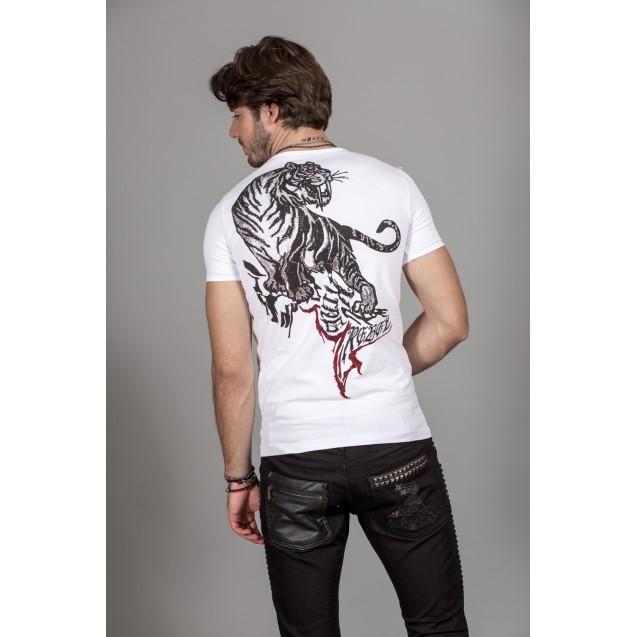 Tricou alb Kingz Jeans 36-04