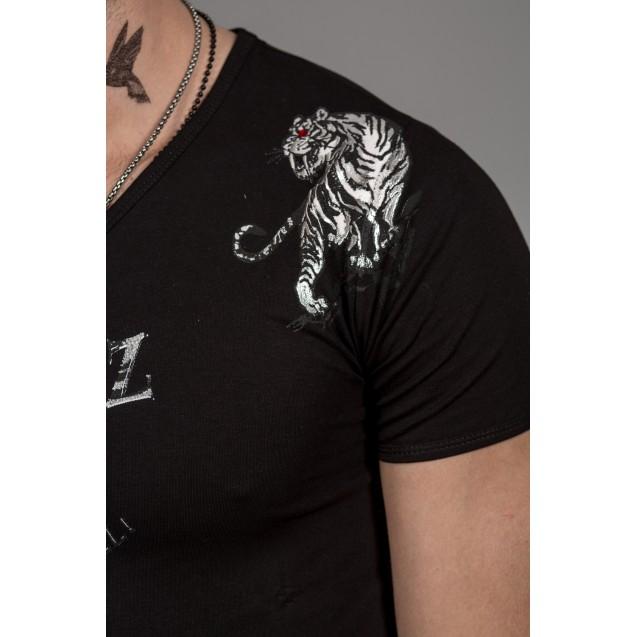 Tricou negru Kingz Jeans 36-04