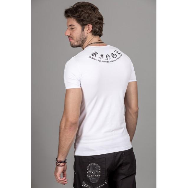 Tricou alb Kingz Jeans 36-05