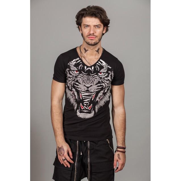 Tricou negru Kingz Jeans 36-08