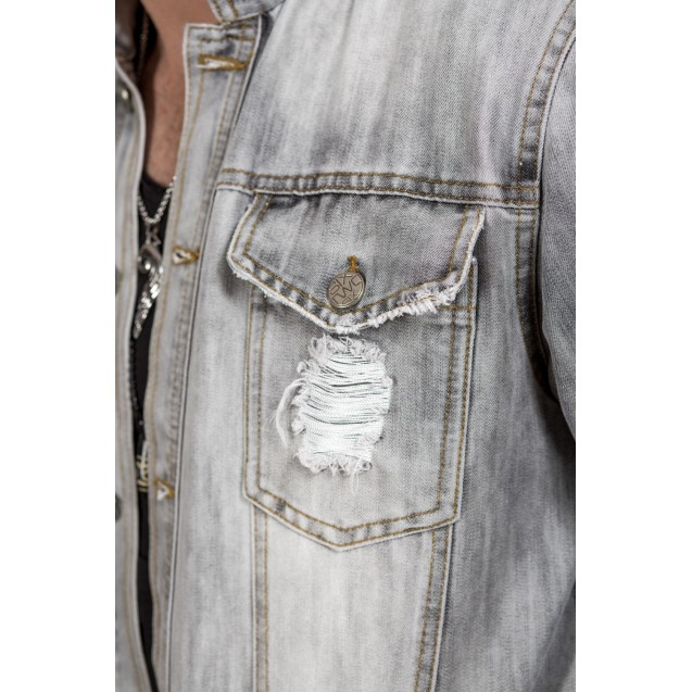 Jacheta gri lunga Kingz Jeans 60
