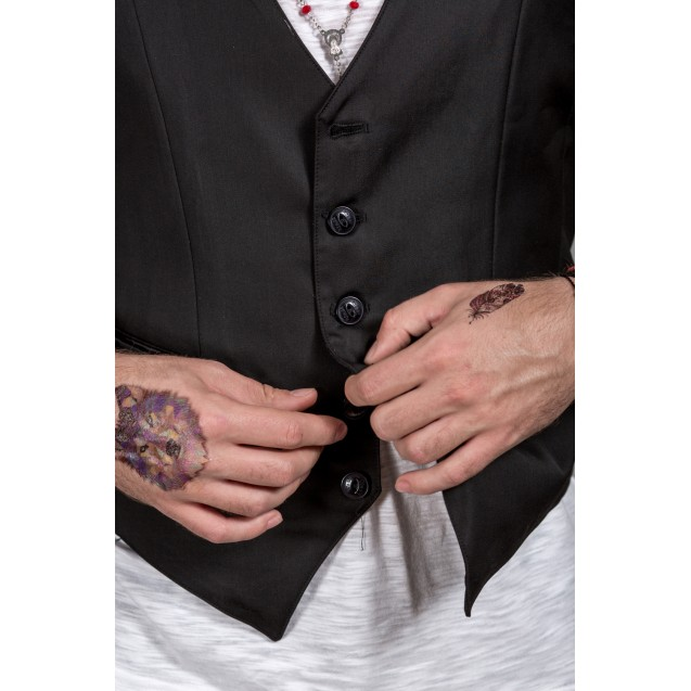 Vesta neagra Kingz Jeans 1492-1-02