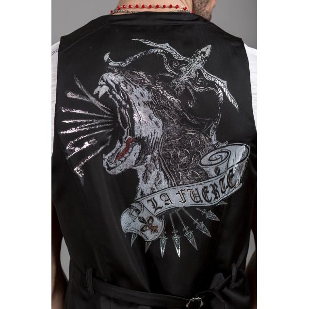 Vesta neagra Kingz Jeans 1492-1-01